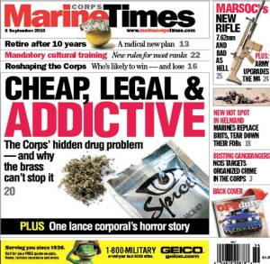 Marine Corps Times cover