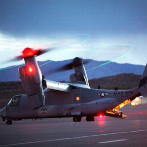 Marines land MV-22B Ospreys at St. George, Utah