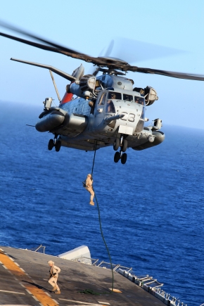 13th MEU BLT 1/4 fast-ropes during PMINT